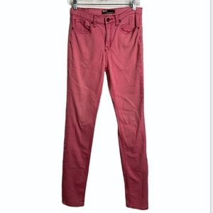 BDG red washed out high-rise cigarette jeans